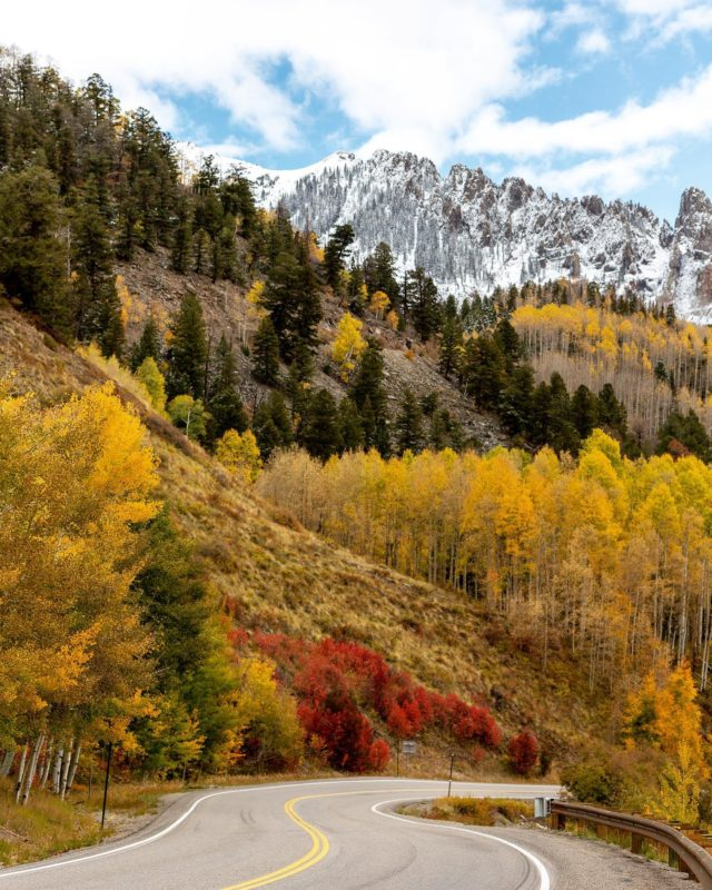 The drive to Telluride from Flagstaff is one of my favorites 🍁🤗 #westcoastisbestcoast