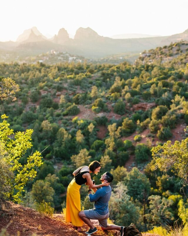 Some of my very favorite recent Sedona proposals 🥰🥰🥰 They're always in shock. It's my favorite moment because I'm also freaking out and nervous along with the dude! With the magical backdrop of Sedona, Arizona you can make some beautiful memories here. Highly recommend! #sedonaproposal