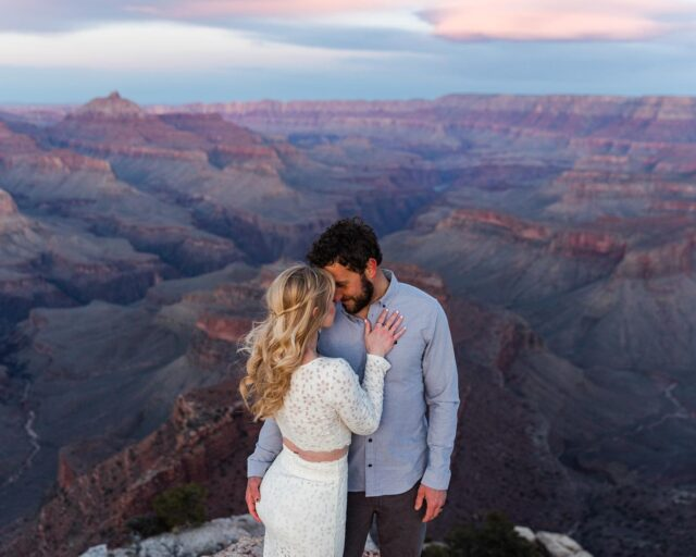 The butt grab really did it for me 😂  but really this couple... cannot rave enough about my time with them spent on a windy cold evening at the south rim. LATER they told me these were their elopement photographs!!! They literally did not a single soul that they were getting eloped. That's a trueeeee elopement for ya. Surprise!!!